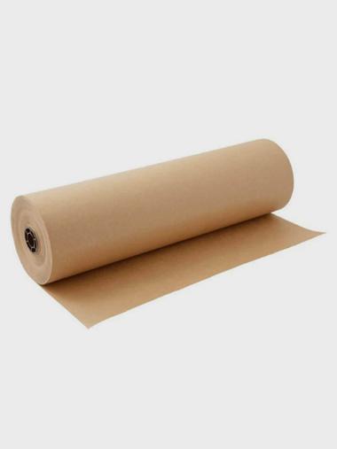Bobina Papel Pardo Semi - Kraft 120cm 80G Supplypack Supplypack