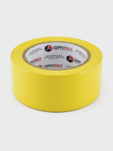 Fita Adesiva de Demarcação de Solo 48mm X 30m - Amarela Supplypack