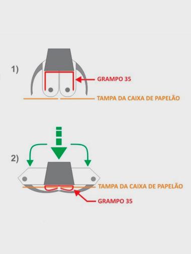 Grampeador Manual Mecânico P/ Grampo Tipo Box 35/19 Supplypack