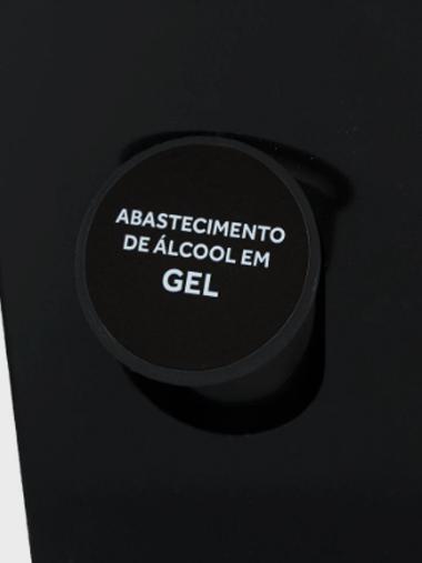 Suporte dispensador Totem de Álcool em Gel c/ Pedal