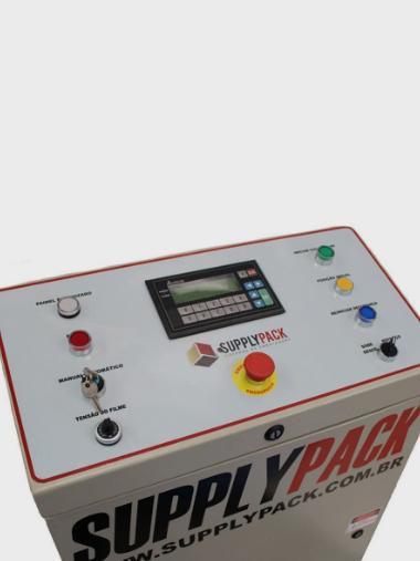 Envolvedora Strechadeira Paletizadora semi-Automática de Filmes Stretch C/ Cabeçote Motorizado Supplypack