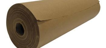 Bobina de papel semi kraft